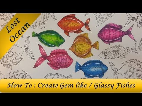 Download Video How To Color Glassy Gem Like Fish Secret Garden Coloring BookAdult