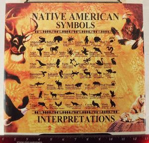 "Image detail for -New Native American Symbols Guide Chart Interpretation 14""x11"" Print ..."