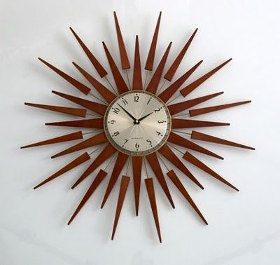 The Edited Collection Starburst Mirrors Sunburst Clock Wall Clock Design Brown Wall Clocks