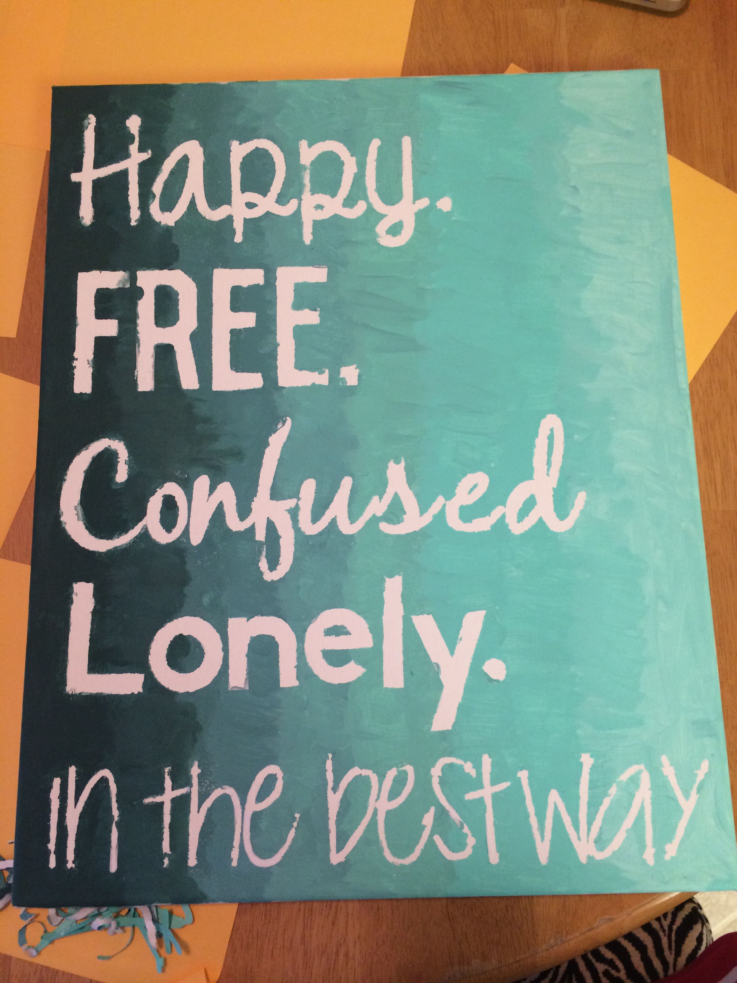 Diy Canvas Taylor Swift 22 Happy Free Confused And Lonely In