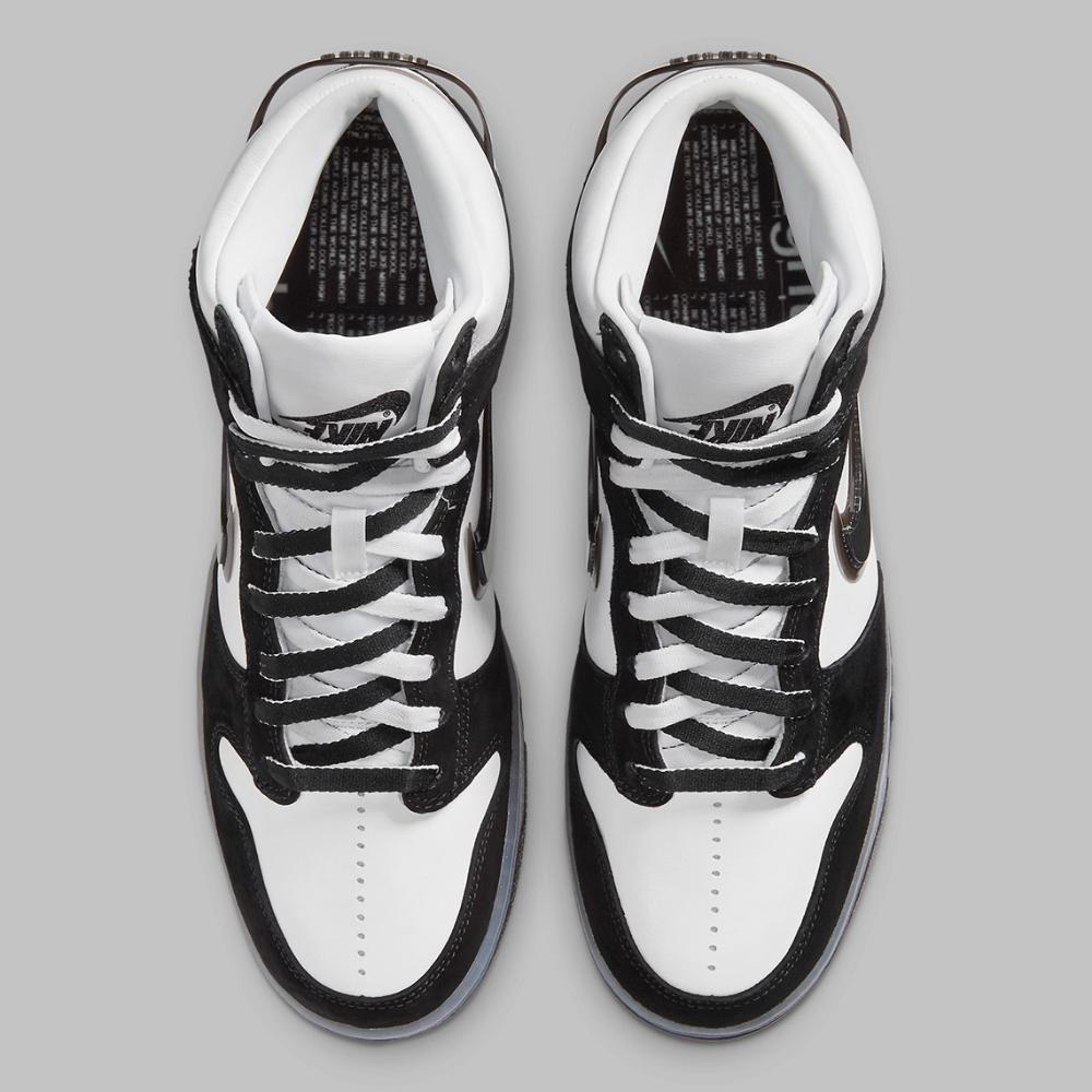 Slam Jam Nike Dunk High Black White DA1639-101   S