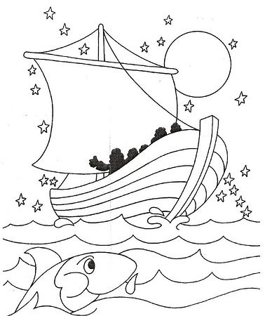 Galilee Boat Coloring Pages The Sea Being Crossed By Jesus And
