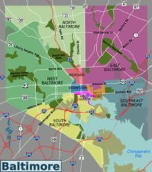 List of Baltimore neighborhoods Wikipedia Baltimore Pinterest