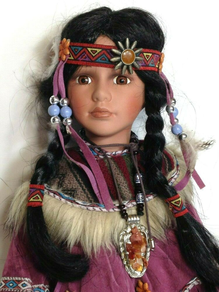Cathay Limited Edition Native American Indian Porcelain