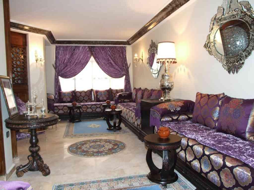 salon dcoration marocain moderne - Salon Marocain Moderne Mauve