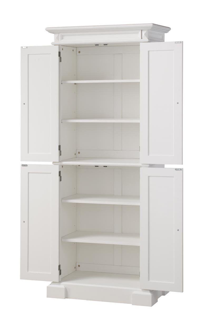Home Styles 5004 692 Americana Pantry Storage Cabinet White