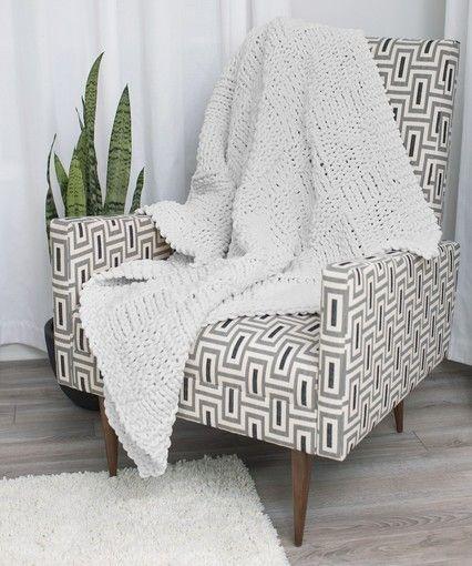 Beautiful Basketweave Throw | Woven blanket, Easy knitting ...