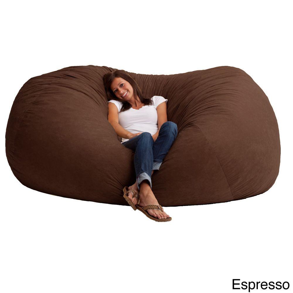 Fufsack Memory Foam Microfiber 7 Foot L Bean Bag Chair Ping The Best Deals On Lounge Bags