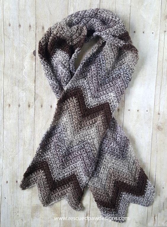 Free Chevron Crochet Scarf Pattern Free Crochet Scarf Patterns