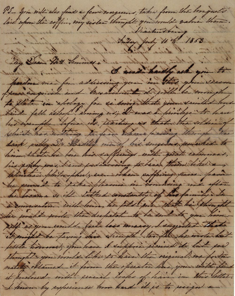 This Civil War Condolence Letter For General