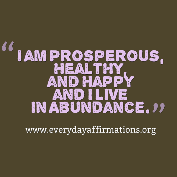 Daily Affirmations - 8 February 2014