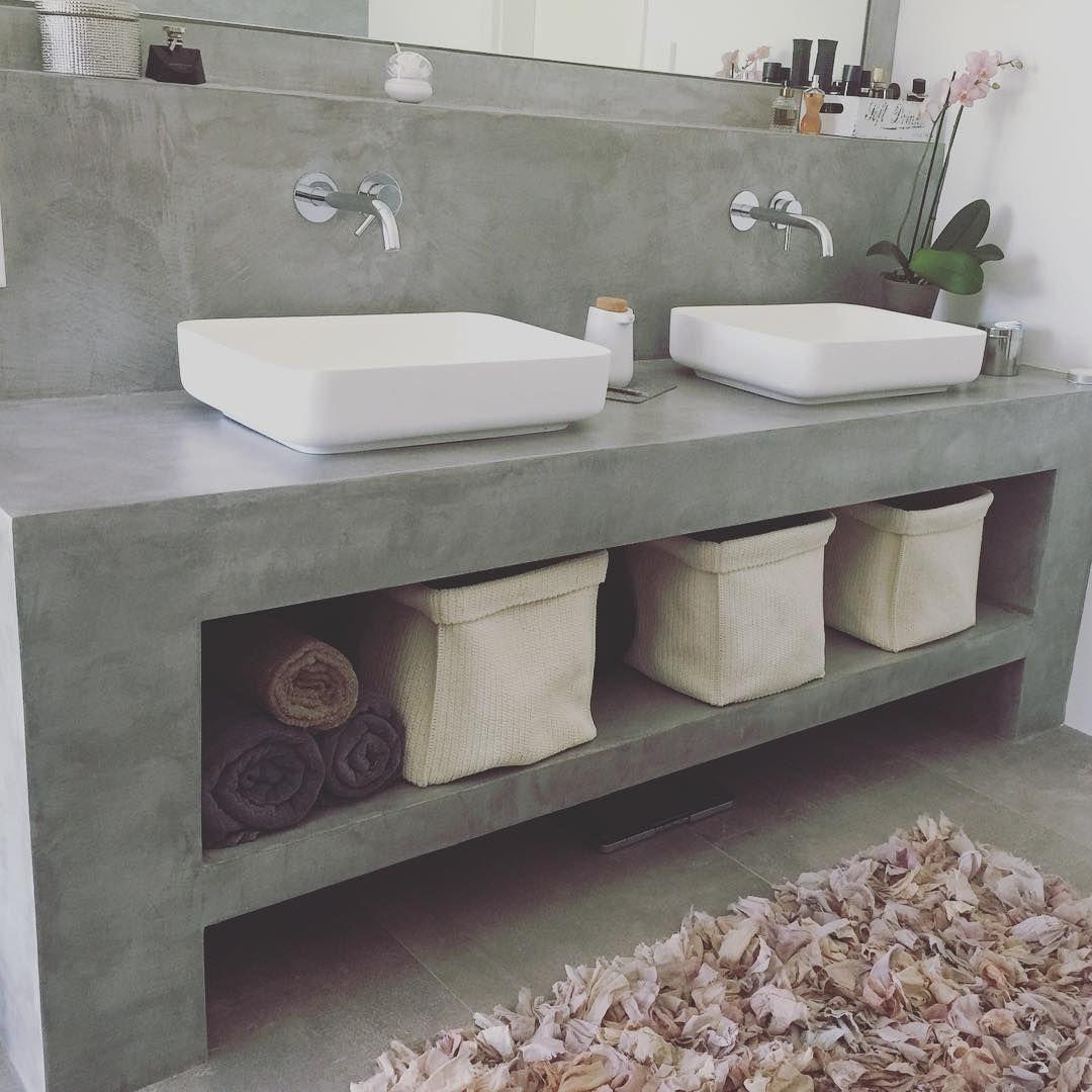 Mulpix Bath Steinberg Badezimmer Wellness Hausbau Hausbau2015 Betonoptik Waschtisch Waschbecken Beton Waschtisch Badezimmer Bad Waschtisch