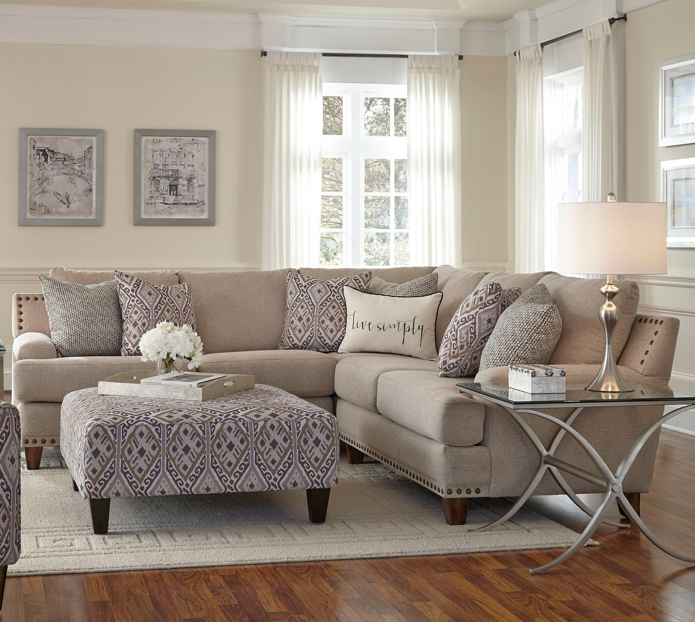 Franklin Julienne Sectional Sofa with Four Seats - Miskelly ...