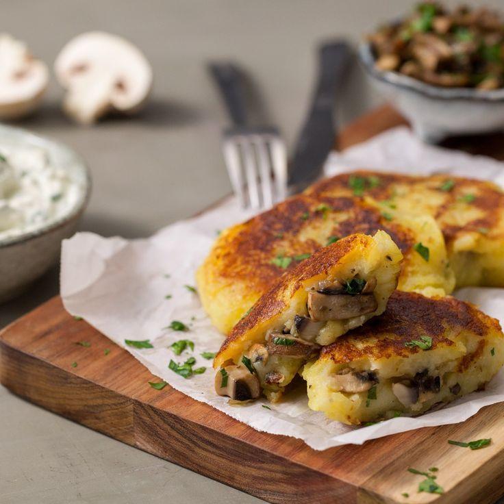 Kartoffeltaschen mit Pilzen - Kochen -