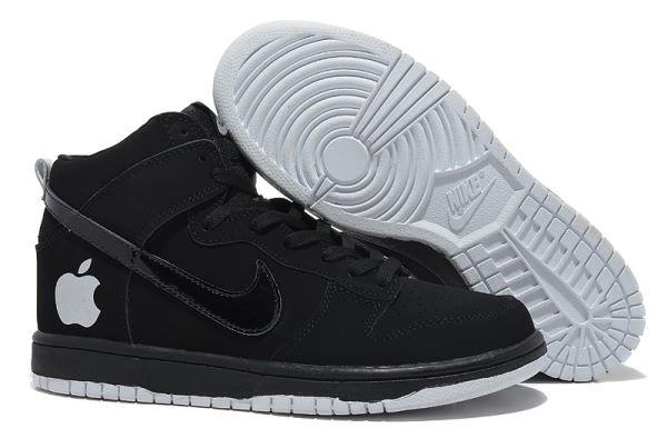61060e8dced Black Nike Dunk High Apple 5 Shoes Mens 839343