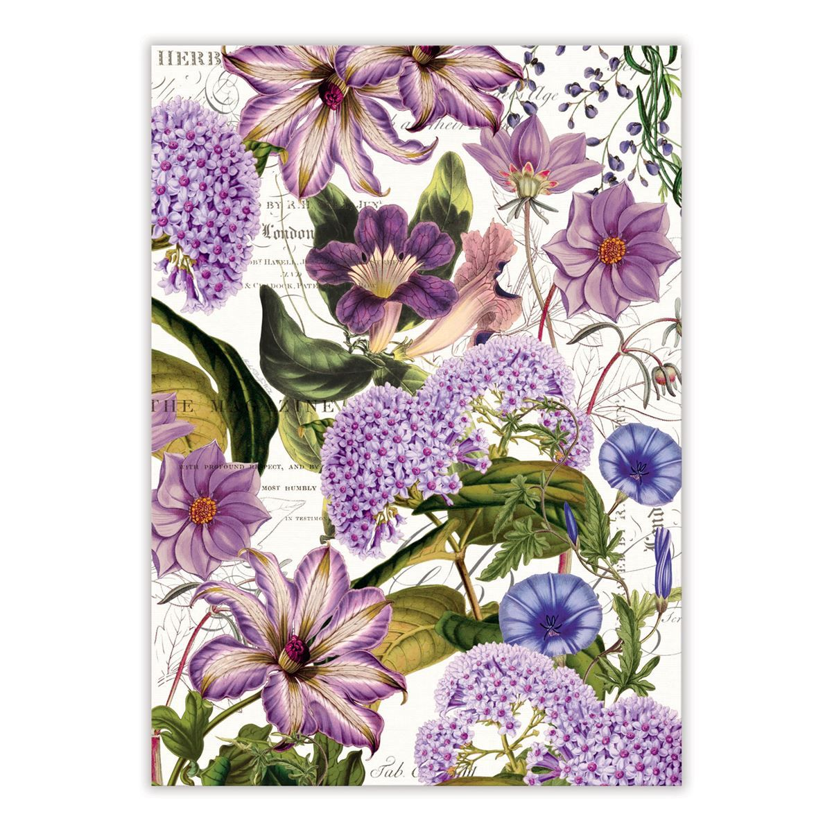 Decorative Kitchen Towel Purple Flowers Decorative Kitchen