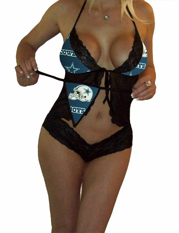 NFL Lingerie Dallas Cowboys Sexy Cami Top and Lace by SexyCrushes ... d6975651b
