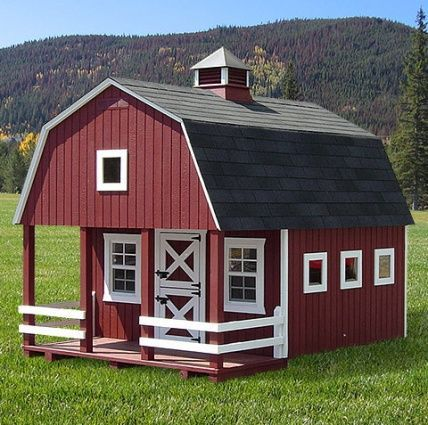 Outdoor playhouse kit ubild cottage playhouse woodworking for Dutch barn shed plans