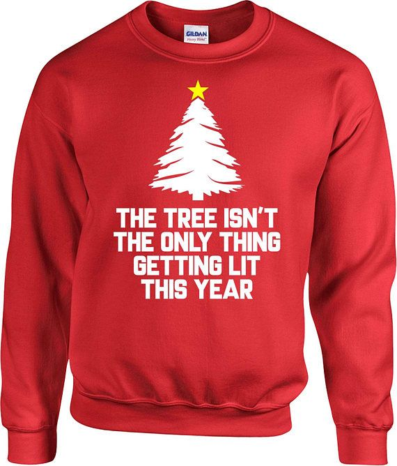 Funny Christmas Sweater Xmas Jumper Holiday Present Drinking