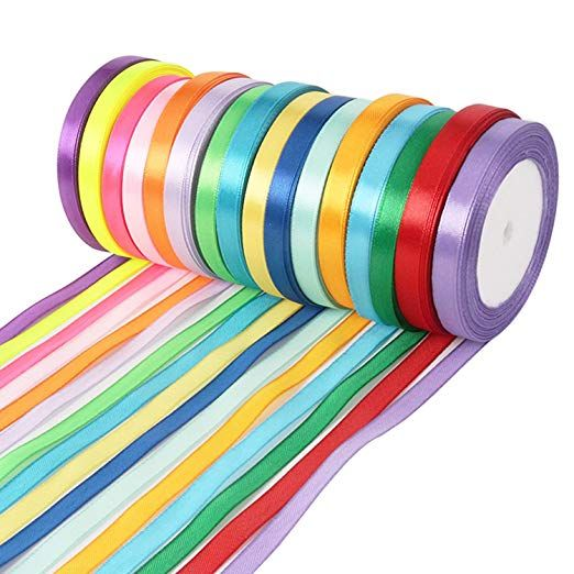 400 Yard Double Sided Fabric Ribbon Silk Satin Roll,16