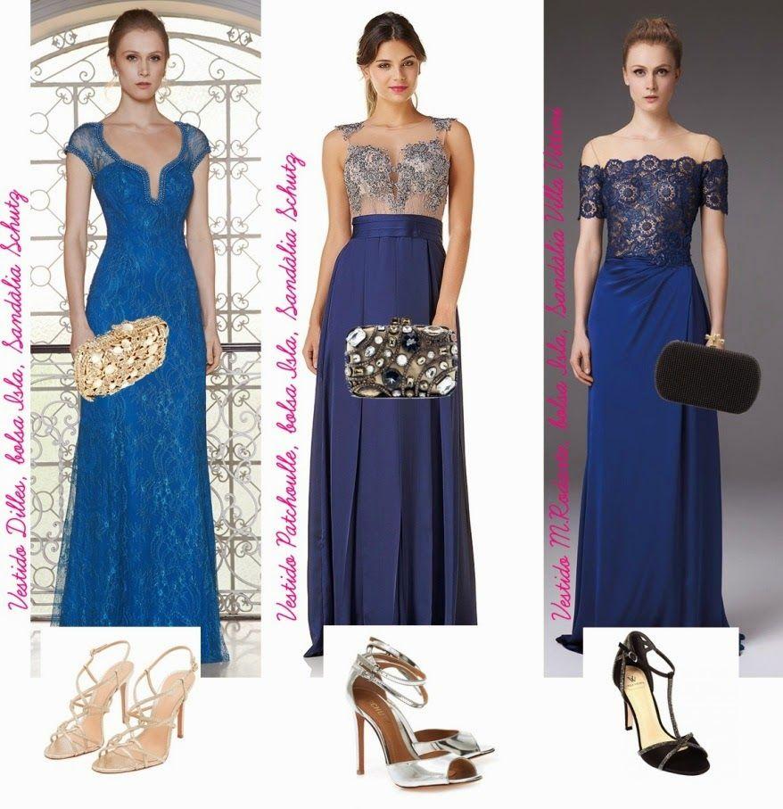 5e0c0a1c12 Maquiagem, sandália e bolsa para usar com vestido de festa azul - Madrinhas  de casamento
