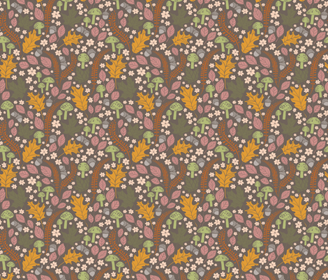 Forest Floor fabric by laine_and_leo on @spoonflower