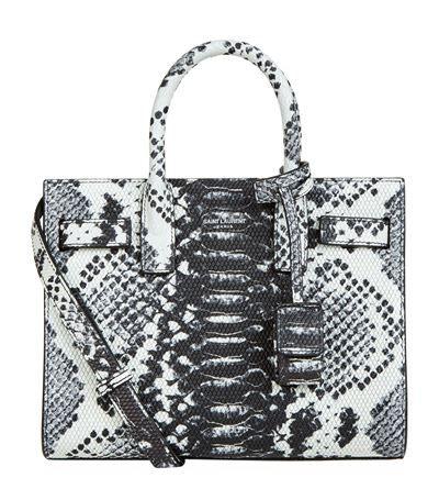 c124b5d6c01 SAINT LAURENT Nano Sac De Jour Embossed Python Print Bag. #saintlaurent # bags #shoulder bags #hand bags #leather