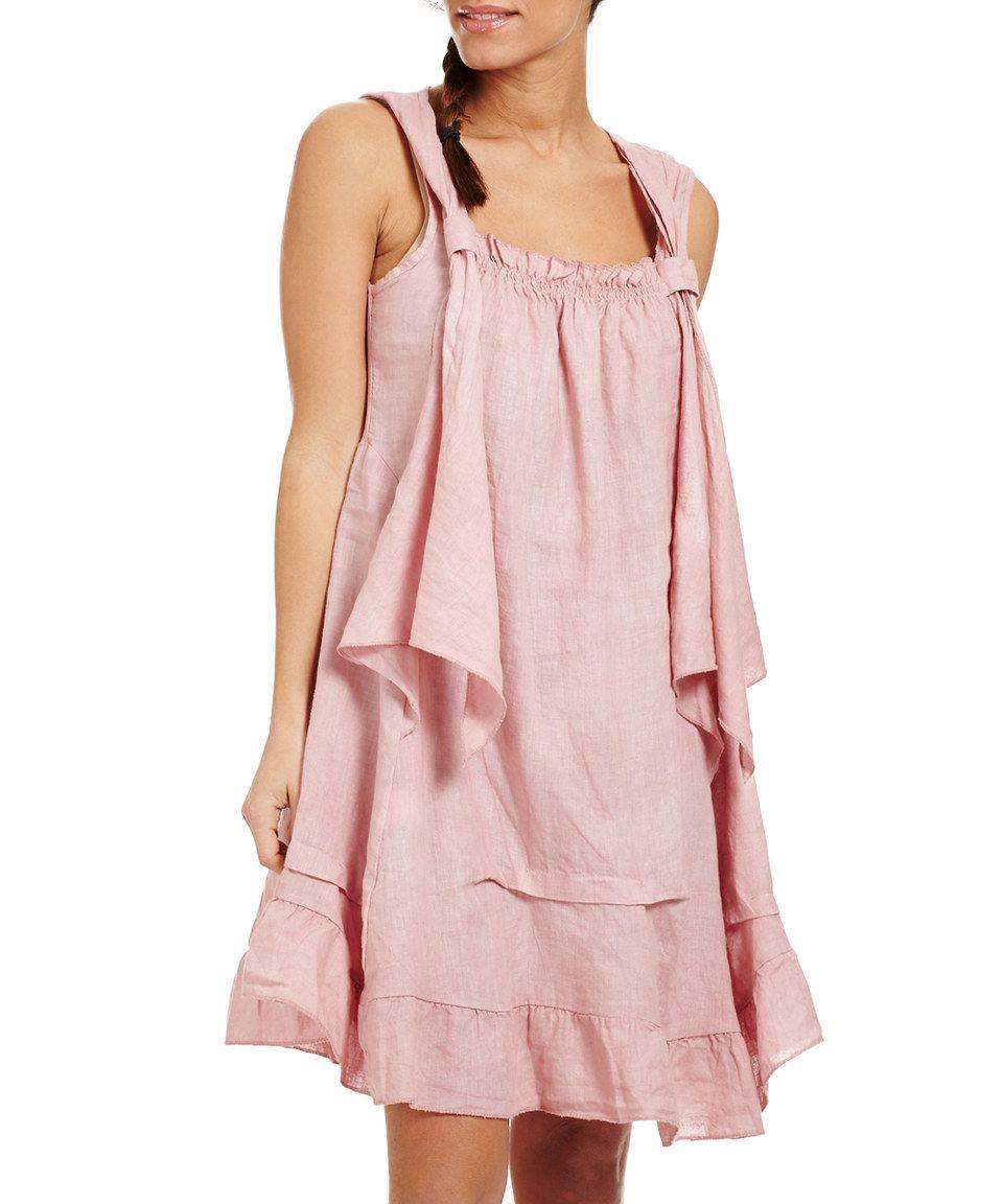 Pink Ruffle Linen Sleeveless Dress by Couleur Lin #zulily ...