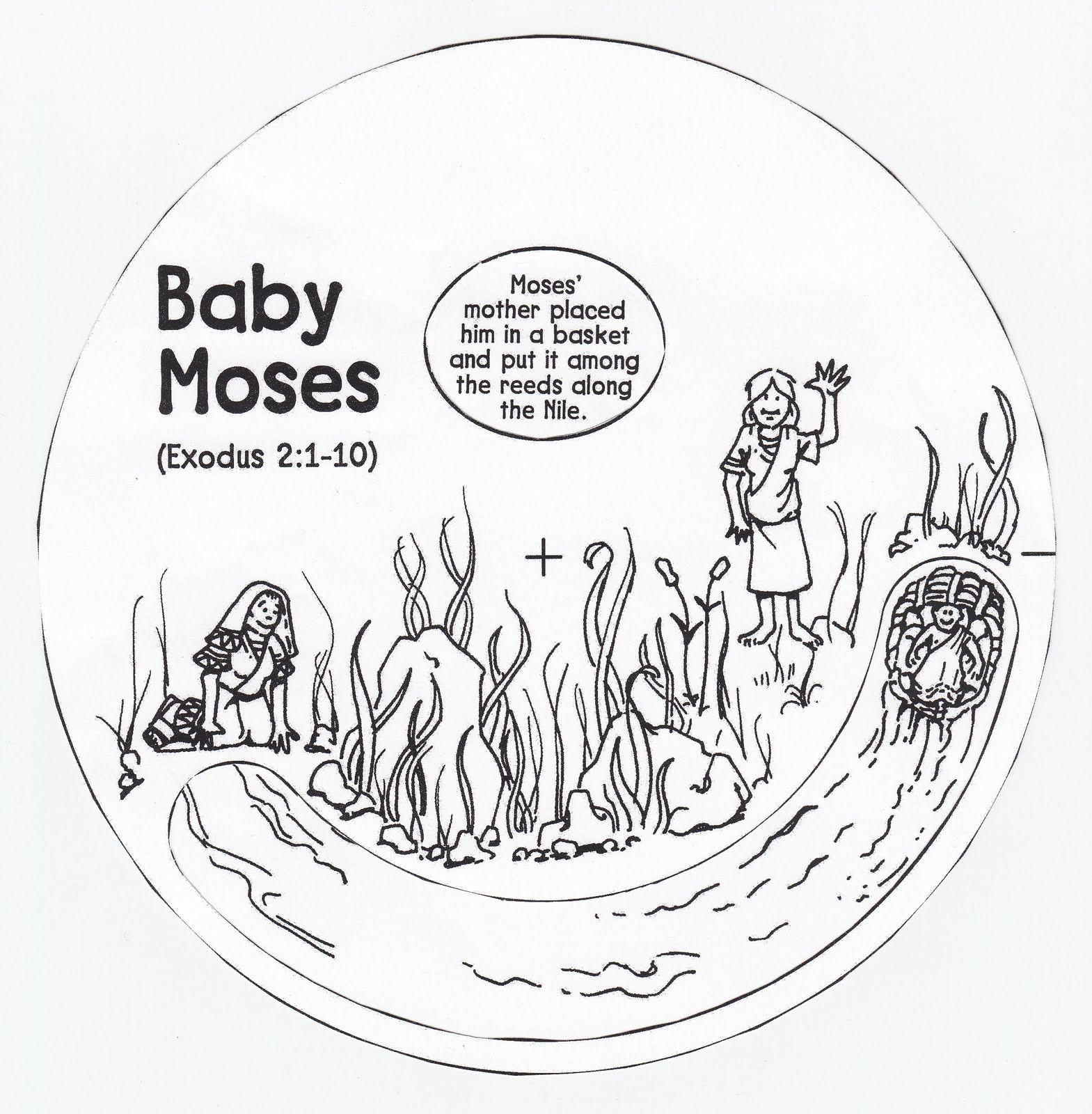 Top Moses Coloring Pages For Sunday School