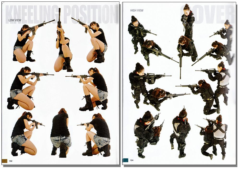 "Real Action Pose Collection /""Gun Action/"" JAPAN POSE BOOK"