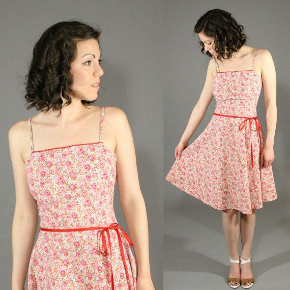Vintage 1970's Floral Tea Party / Cocktail / by SeamlessVintage, $28.00