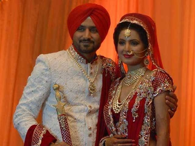 Geeta Basra Harbhajan Singh Wedding Mrs Cricketer Mr Bollywood Part Ii Celebrity Weddings Bollywood Fashion