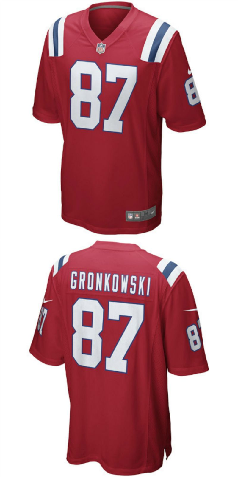 new style f1fa8 bfe76 UP TO 70% OFF. Rob Gronkowski New England Patriots Nike ...
