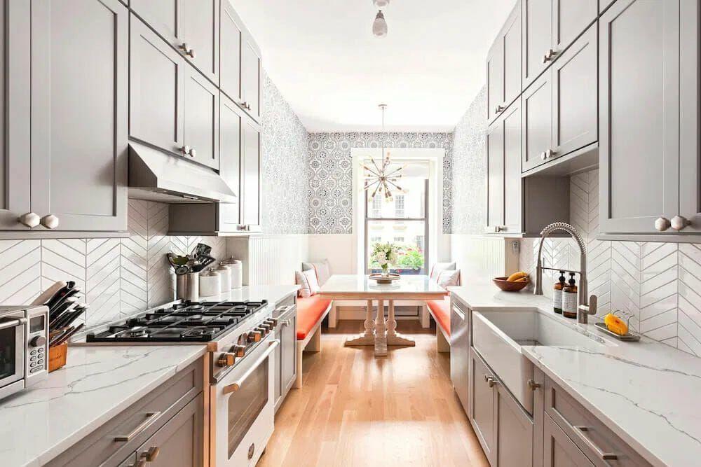 Sunny Galley Kitchen | Sweeten Blog