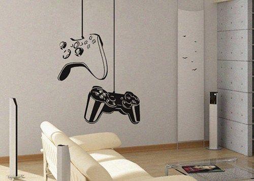 Game Controller Modern Xbox Ps Games Kids Video Art Decals Wall - Make custom vinyl wall decalsvinyl wall decal sticker paint dripping s wall decals attic