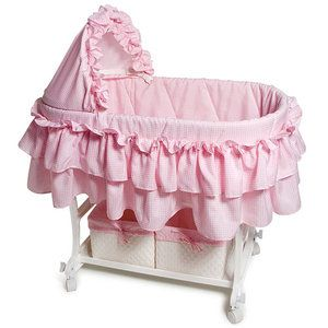 Best Burlington Bassinet With Bedding And Storage Pink 640 x 480