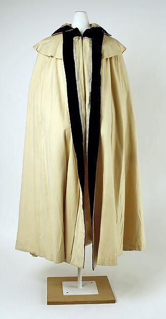 Superb Riding Cape in Camel Wool and Black Lace for French Fashion from kathylibratysantiques on Ruby Lane