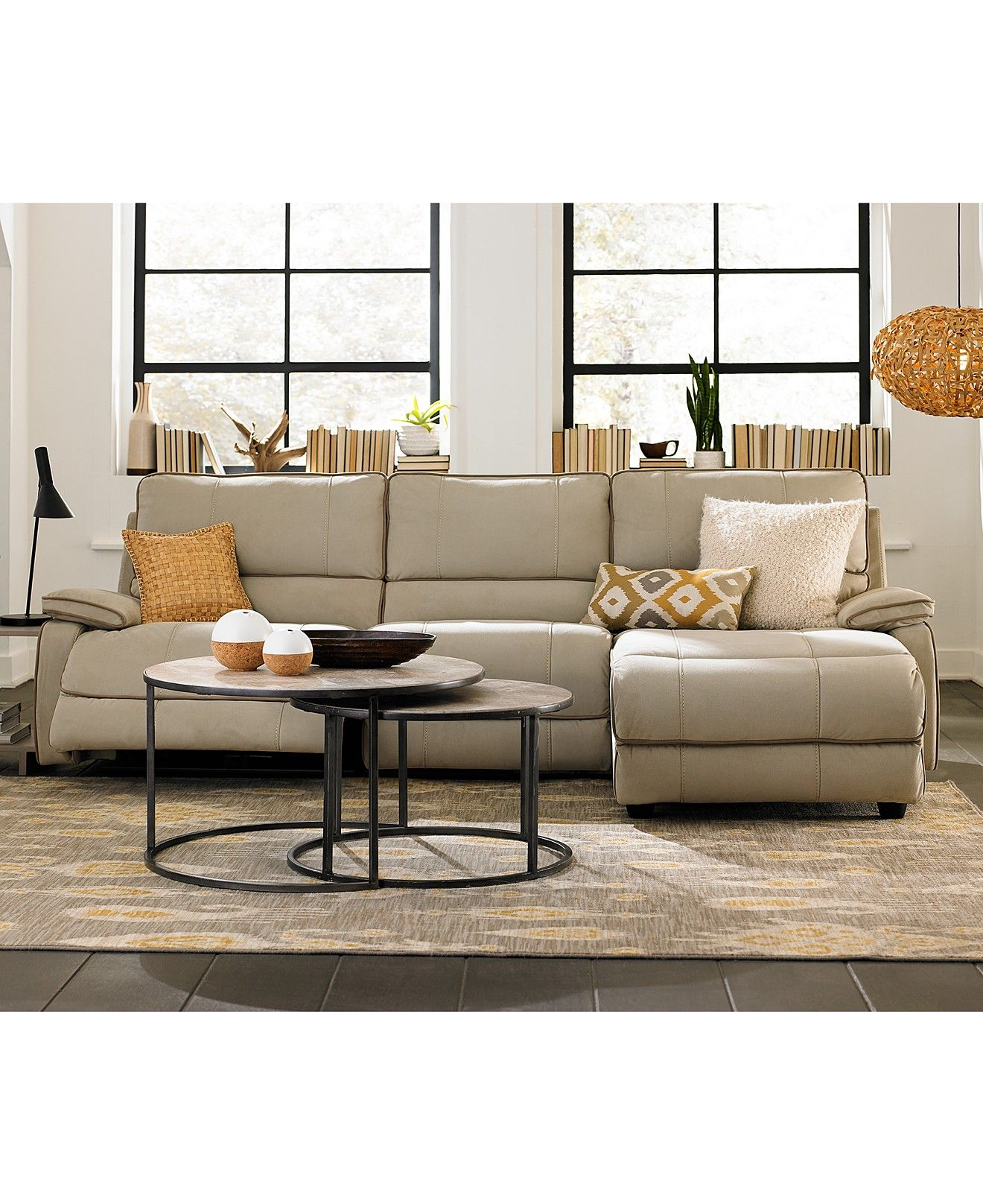 Cody Fabric Power Reclining Sectional Sofa Living Room Furniture