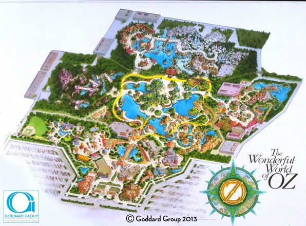 Wizard Of Oz Theme Park Map All Rights Reserved To The Dard Group