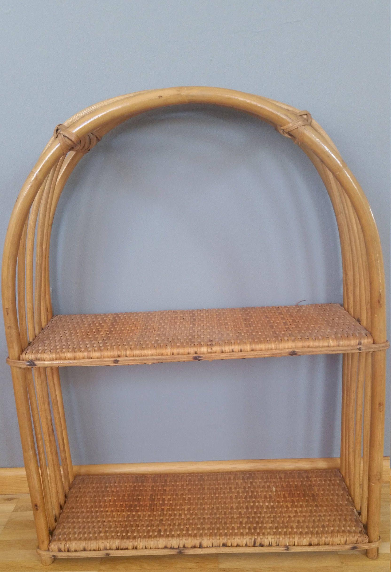 Vintage Boho Rattan Regal Wandregal Bambus Badezimmer Kinderzimmer Küche  Flur Wall Shelf Wicker Von DesignArtGalleryShop Auf