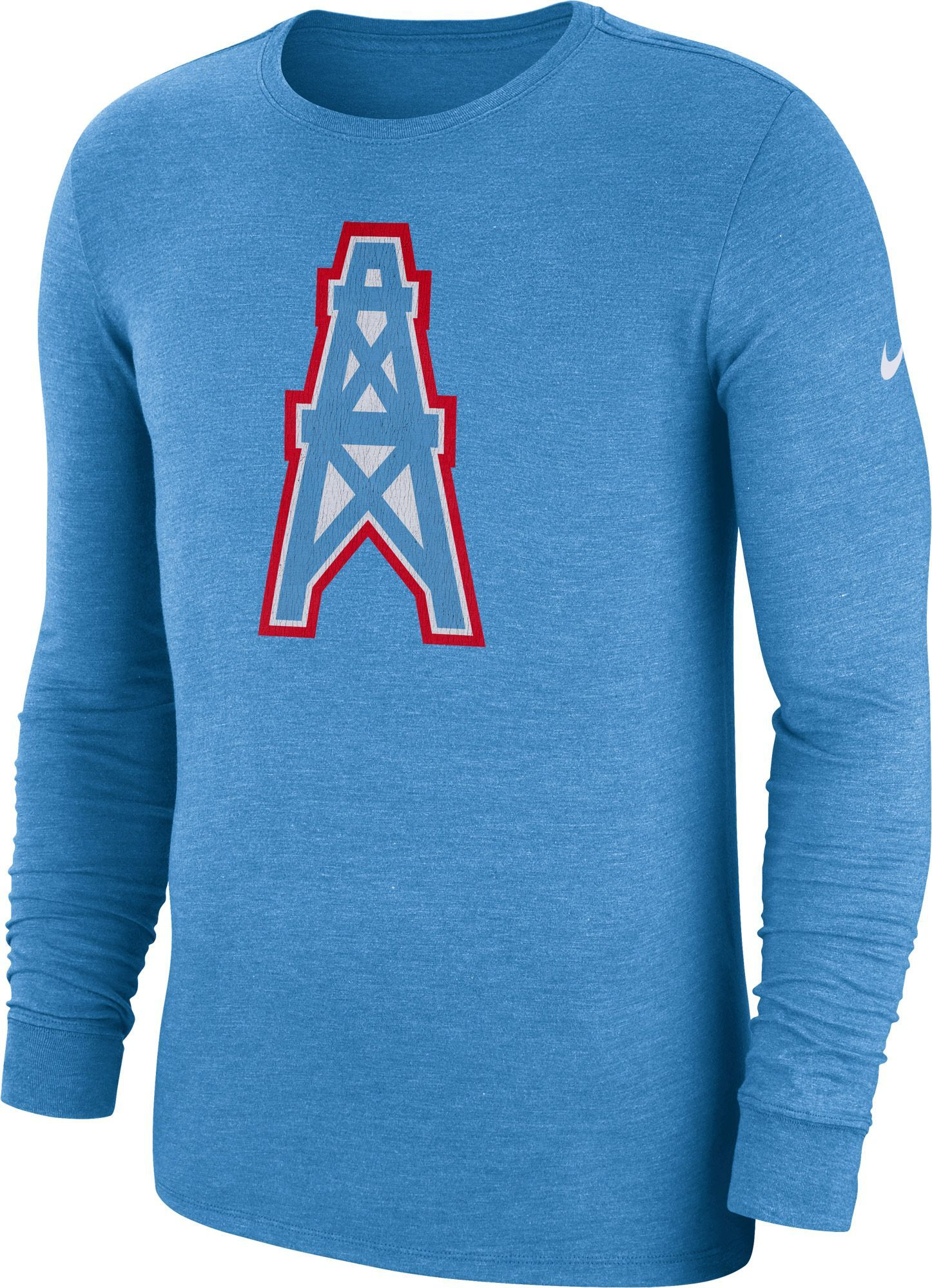 Nike Men s Tennessee Tri-Blend Historic Crackle Blue Long Sleeve Shirt 2dea014b6