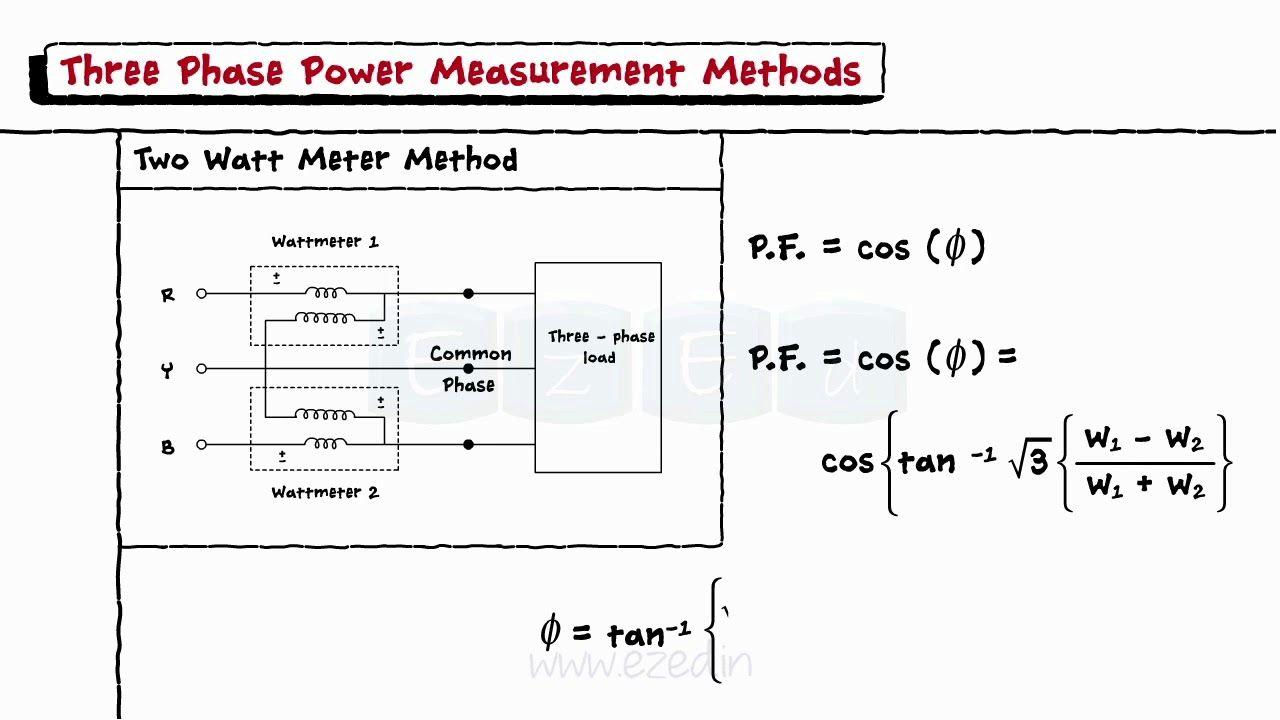 Three Phase Circuit Tutorial 1 Wattmeter 2 Wattmeter Methods Solved House Floor Plans White House White House Tour