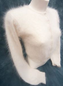 Harrods Very Fluffy White 70% Angora Cardigan (UD) | Harrods, eBay ...