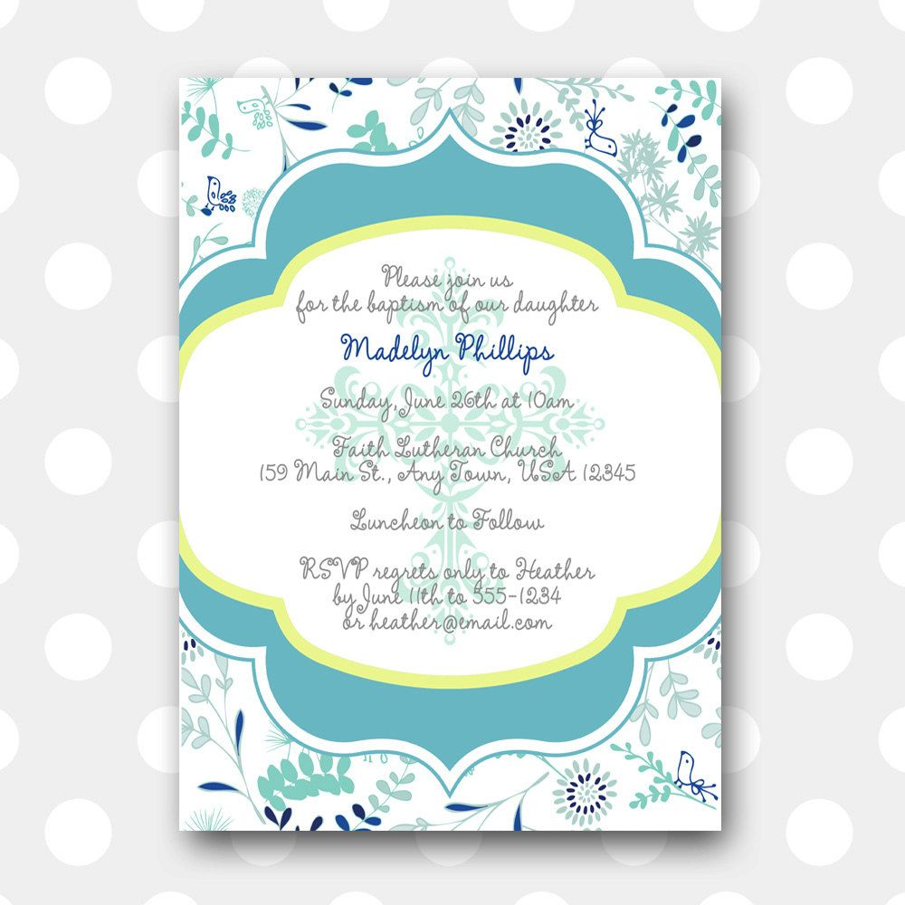 Free Printable Baptism Invitations Cards Christening Ideas