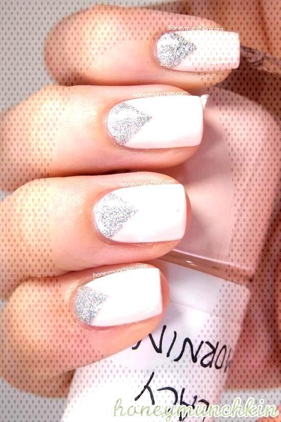 Nail Art géométrique pour mariage graphique