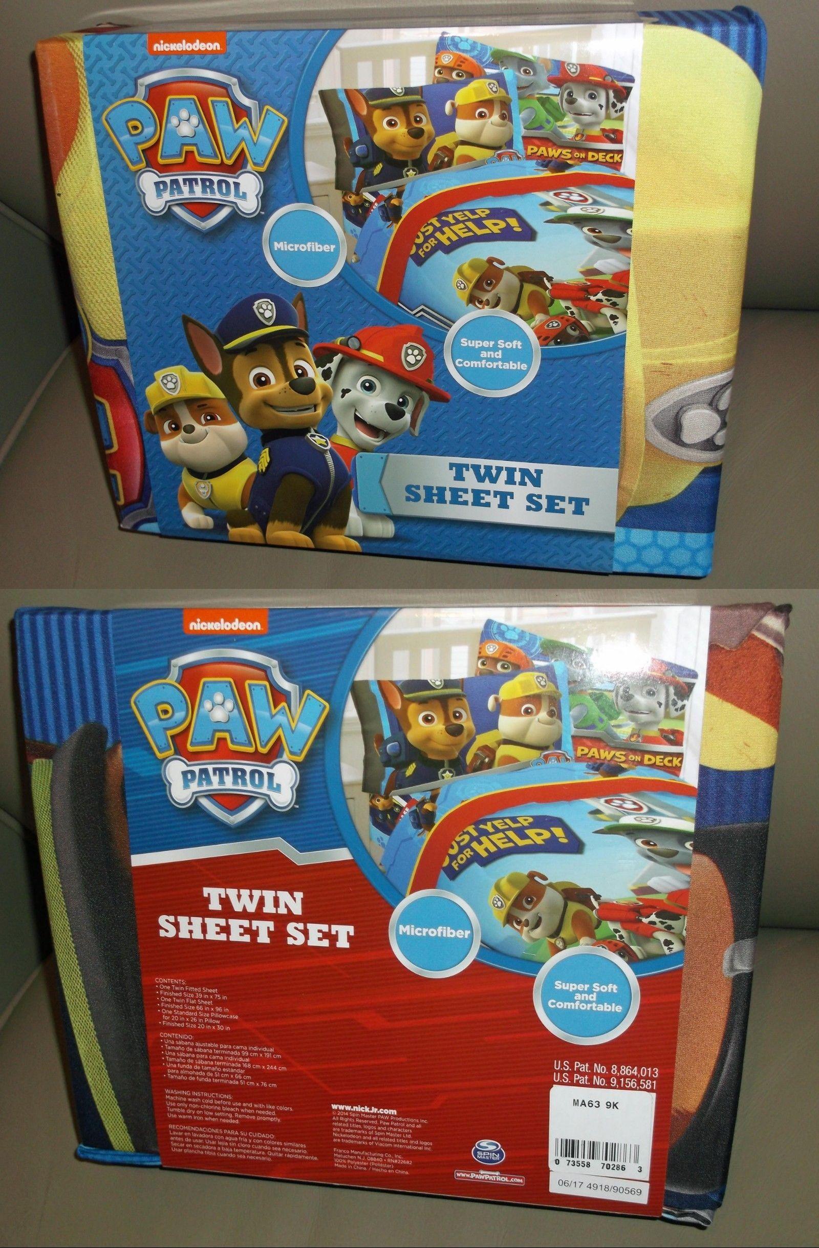 Bedding Sets 66731: New Twin Nickelodeon Paw Patrol Sheet Set