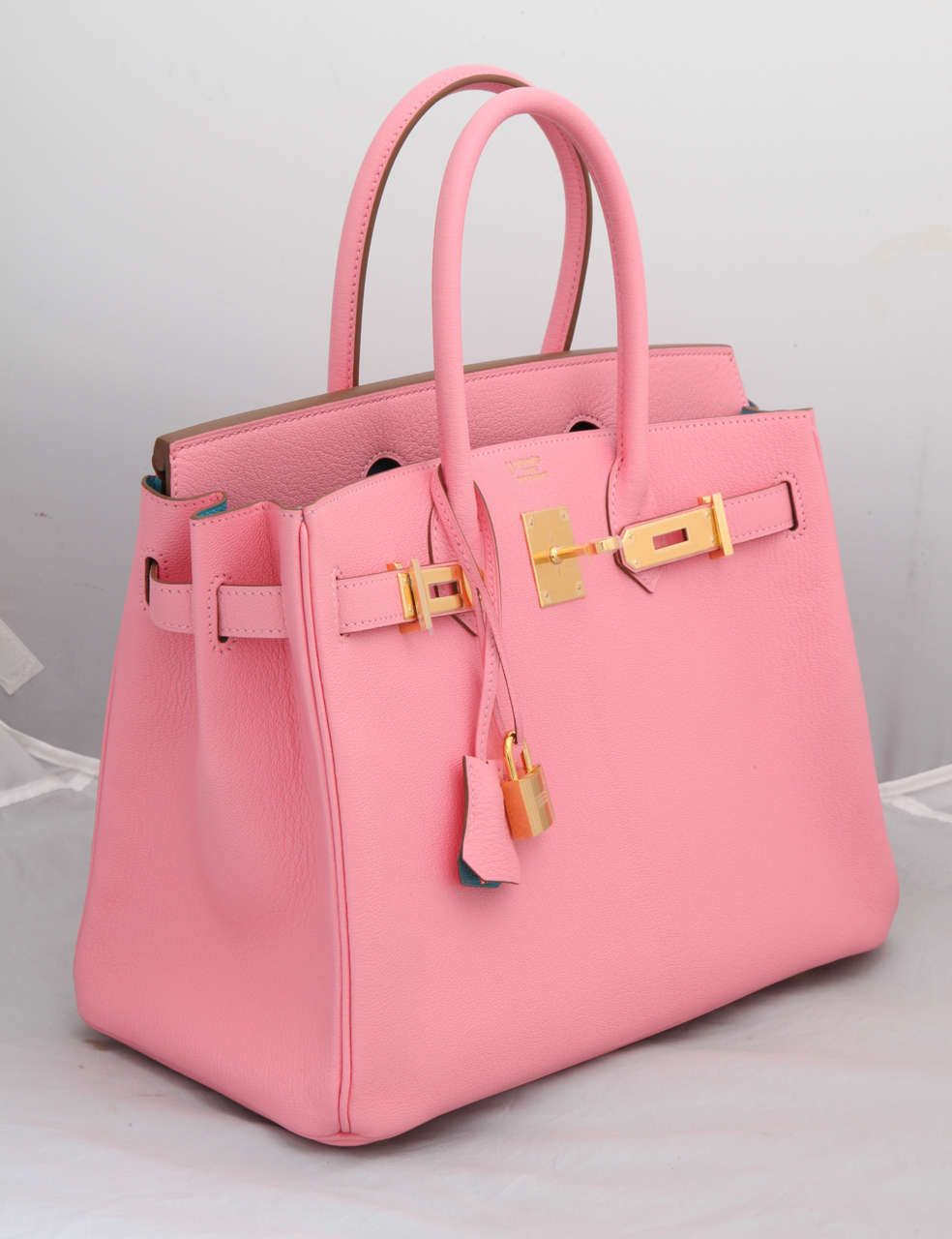 Hermes Rose Confetti Pink Special Order Chevre Birkin With Horseshoe Stamp Louis Vuitton Handbags