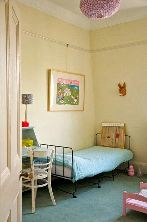 Kinderzimmer, Kinderzimmerideen, Kleine Räume, Wohnräume, Kinderzimmer,  Kräftige Farben, Laminas Vintage, Für Kinder, Schlafzimmer