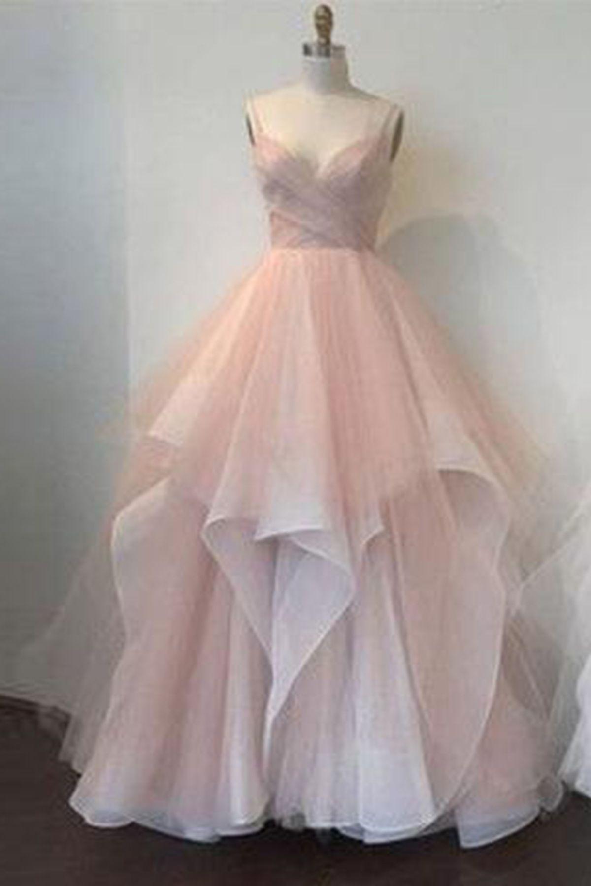 Blush Pink Tulle Sweetheart Neckline Long Senior Prom Dresses Pink Evening Dress Senior Prom Dresses Sweetheart Dress [ 1800 x 1200 Pixel ]