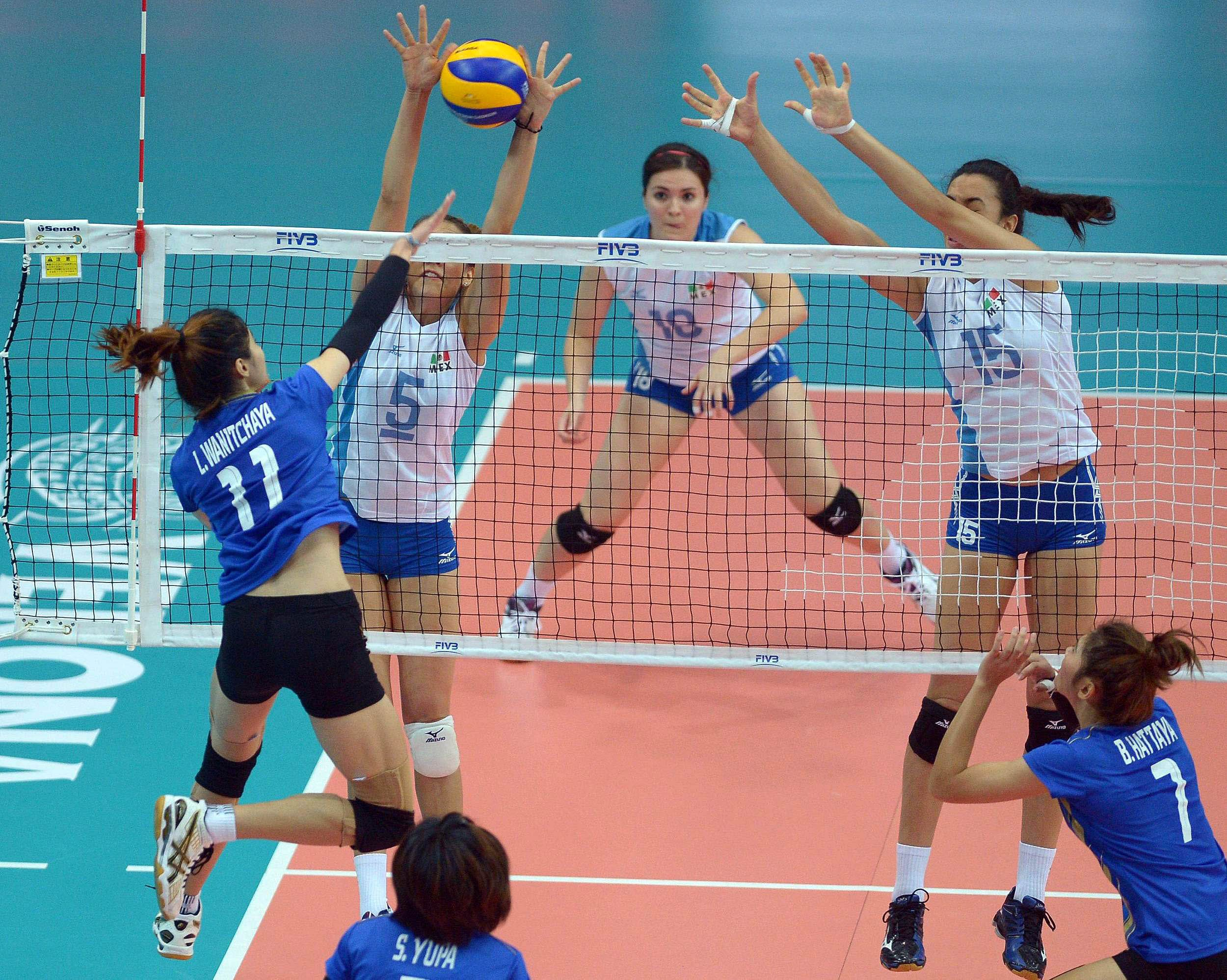 Thailand Sweep Mexico In Thrilling Contest Women Play Ball